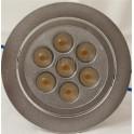 LED Dæmpbar Indbygningsspot 7 x 1 Watt Dioder